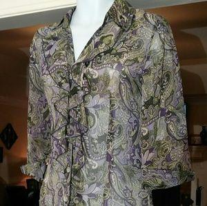 Beautiful Dress Barn  ladies sheer blouse